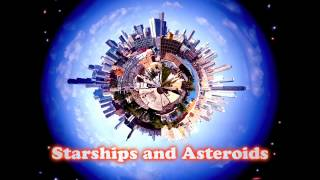 Royalty Free Starships and Asteroids:Starships and Asteroids