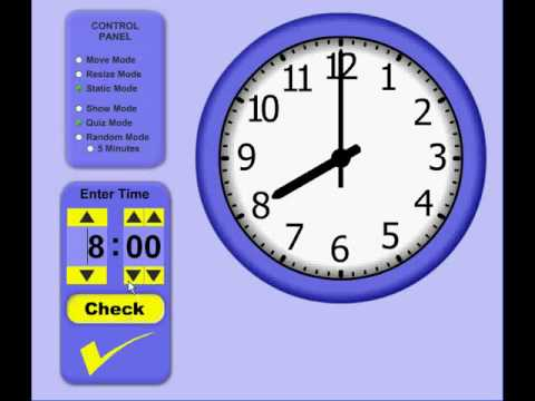 Telling Time Clock Teaching Tool