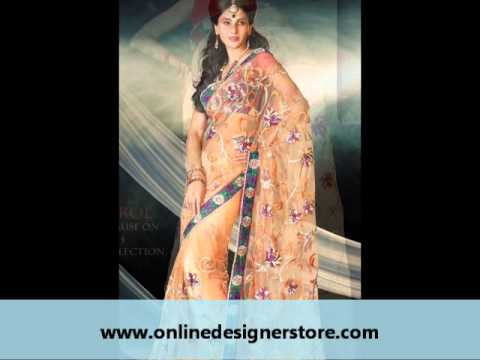 Designer Party Wear Sarees - Wedding Saree Collection - www.onlinedesignerstore.com