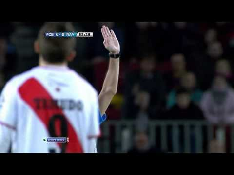 Barcelona Rayo Vallecano Gerard Pique yellow card