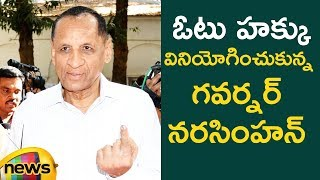 Governor Narasimhan Cast his Votes | #TelanganaElections2018 | Mango News - MANGONEWS