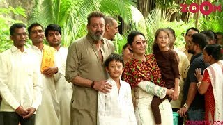 Sanjay Dutt's Eco Friendly Ganpati Visarjan With Wife Maanyata Dutt & Kids - ZOOMDEKHO