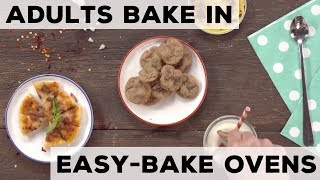 When Adults Bake in Easy Bake Ovens | Food Network - FOODNETWORKTV