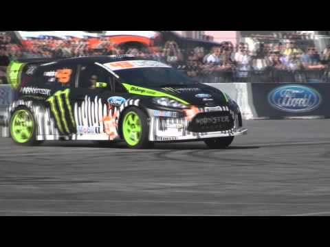 Ken Block and Vaughn Gittin Jr at SEMA 2011