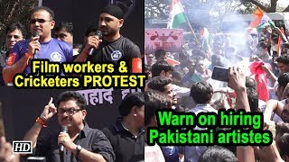 Film workers & Cricketers PROTEST, Warn on hiring Pakistani artistes - IANSLIVE