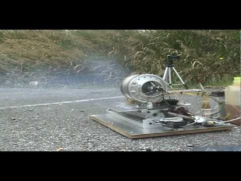 1° Test :Turbina autocostruita  versione 2011 spinta fino a 100.000 giri/minuto