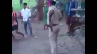 Police Get Beaten Up by village Youth Boys