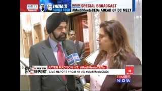Mastercard CEO Ajay Banga on Prime Minister Narendra Modi - TIMESNOWONLINE