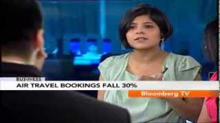 In Business- Air Travel Bookings Fall 30% - BLOOMBERGUTV