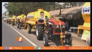 MLA Vallabhaneni Vamsi Mohan Supply Drinking Water For Peoples In Vijayawada Rural Villages | iNews - INEWS