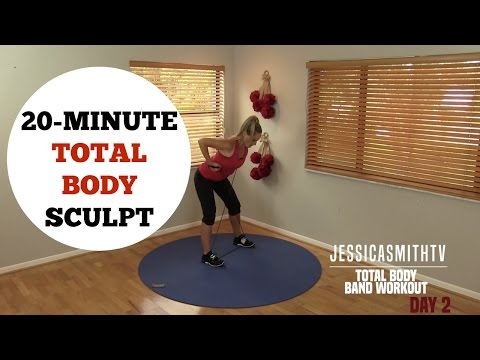 20 Minute Total Body Sculpting Resistance Band Workout for All Levels of Exercise