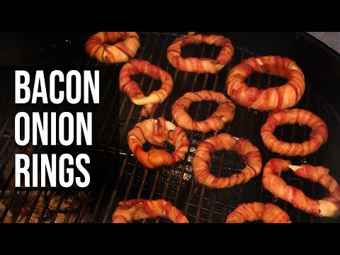 BarbecueWeb - Bacon Onion Rings by the BBQ Pit Boys - Grill her slow, and then fry her just the way ya like it -golden brown on the outside and moist and tender on the inside. Watch the BBQ Pit Boys show you how easy it is to take those ordinary Fried Onion Rings and make them a side dish worth cookin' up for family and friends at your next pit barbecue or tailgating gig.  