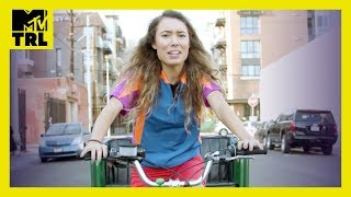 Kristen McAtee Tries Pedicab Tour Guide in Los Angeles | Tries It | TRL - MTV