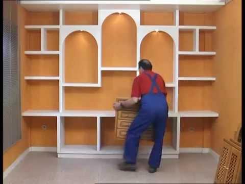 Muebles de pladur en madera su nombre es Plegur