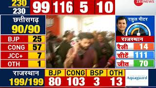 Election Breaking: Vasundhara Raje walks out without answering reporters question - ZEENEWS