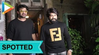 SPOTTED: KGF Actor Yash with Prabhas at Paali Bhavan Bandra - HUNGAMA