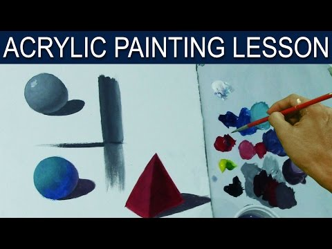 how to paint lights and shadows in acrylic