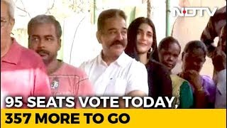 """Today Is The Day"": Kamal Haasan, Daughter Shruti Vote Early In Chennai - NDTV"