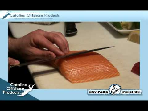 How to make Yellowfin Tuna and Salmon Sushi Sashimi