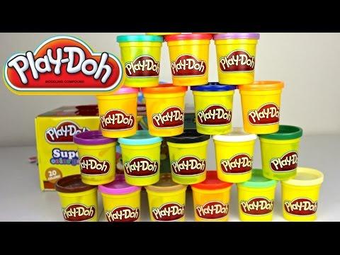 Plastilina Play Doh en  Español Super Color pack Play Doh Box Caja de play Doh