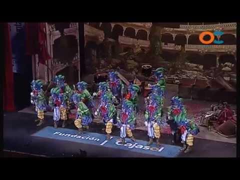 Sesión de Cuartos de final, la agrupación El reino de Don Carnal actúa hoy en la modalidad de Comparsas.