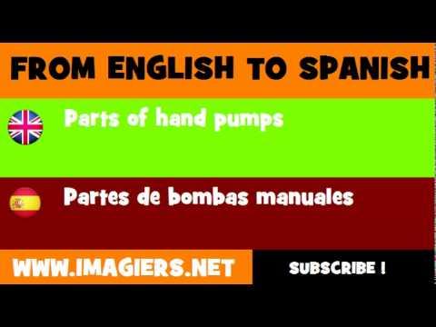ESPAÑOL = INGLÉS = Partes de bombas manuales
