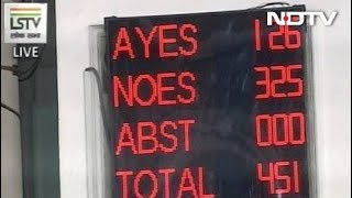 Government Comfortably Wins Vote On Opposition-Backed No-Trust Motion - NDTV