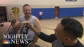 This 14-Year-Old Is Serving Up Sweets To Support Wounded Veterans   NBC Nightly News - NBCNEWS