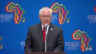 Tillerson: US Seeks to Unlock the Potential of a Growing African Continent - VOAVIDEO