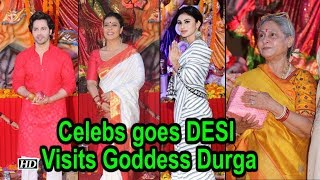 Celebs goes DESI | Visits Goddess Durga on Dusshera - IANSLIVE