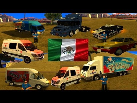 PACK DE AUTOS MEXICANOS 2014 PARA GTA SAN ANDREAS
