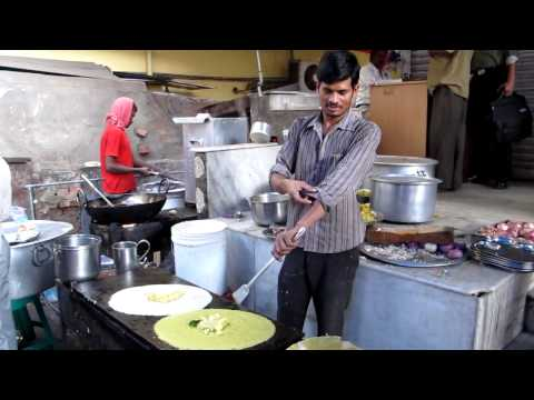 Hyderabad Street Food Making Dosa