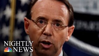 Rosenstein Decision Postponed For Now As He And Donald Trump Set Thursday Meeting | NBC Nightly News - NBCNEWS