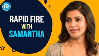 Rapid Fire With Samantha | Talking Movies With iDream | Vrinda | Celebrity Buzz with iDream - IDREAMMOVIES