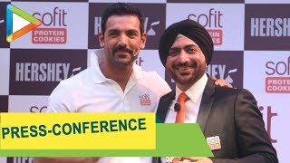 John Abraham at the Hershey's Sofit Protein Cookies Press-Conference - HUNGAMA