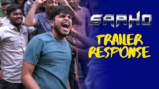 Prabhas Fans Mass Hungama | Saaho Trailer Response Hyderabad - TFPC