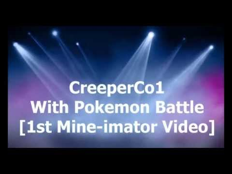 Pokemon battle [1st mine-imator video]