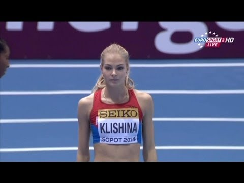 Darya Klishina Дарья Клишина 2014 4 Indoor WC Sopot qualifications March 8th