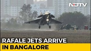 Watch: 3 Rafale Jets Arrive In Bengaluru For Aero Show Amid Political Row - NDTV