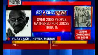 #GandhiVsGodse: Over 2000 people gathered for Godse tribute in Meerut - NEWSXLIVE