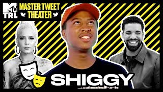 Shiggy's Hilarious Impressions of Drake, Patrick Star & More | Master Tweet Theater 🎭 | TRL - MTV