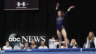UCLA gymnast's entertaining floor routine - ABCNEWS