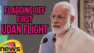 PM's Speech At The Flagging Off First UDAN Flight Under Regional Connectivity Scheme | Mango News - MANGONEWS