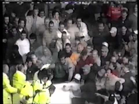 Football Hooligans Manchester City V Birmingham City 1996