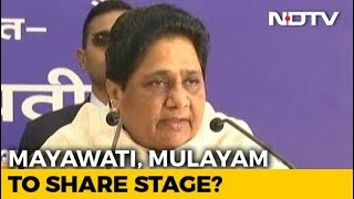 24 Years On, Arch-Rivals Mulayam Singh, Mayawati At Joint Rally Today - NDTV