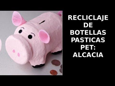 Reciclaje de Botellas Plásticas PET, Manualidades: Alcancia
