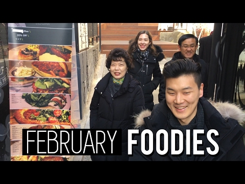 FEBRUARY FOODIES & Valentine's Day (자막)2월의 식도락 & 발렌타인데이 국제커플 브이로그