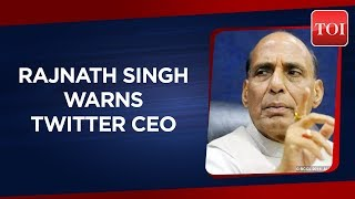Home Minister Rajnath Singh warns of strict action against Twitter CEO over poster controversy - TIMESOFINDIACHANNEL