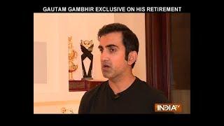 Exclusive   Decision on retirement was not easy to take: Gautam Gambhir - INDIATV
