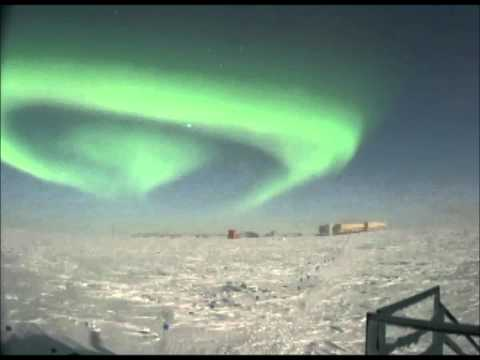 Aurora Australis in South Pole Lunar Time Lapse